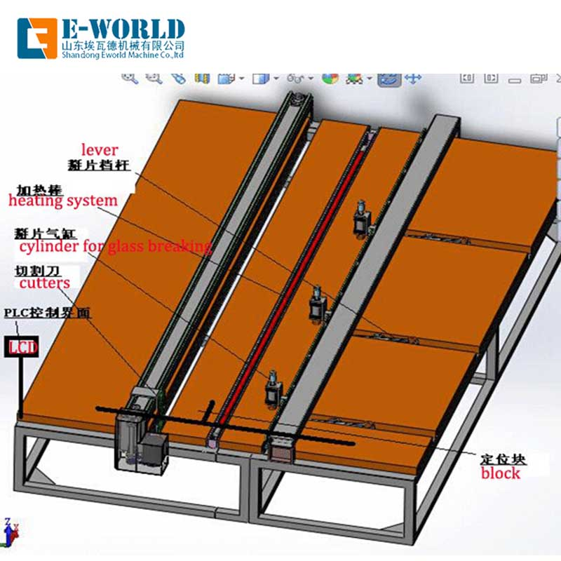 Eworld Machine semiautomatic laminated glass cutting machine exquisite craftsmanship for sale-1