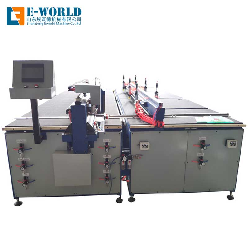 Eworld Machine semiautomatic laminated glass cutting machine exquisite craftsmanship for sale-2