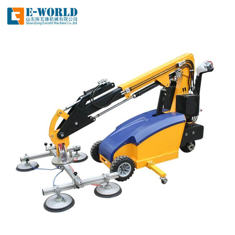 Electric and Hydraulic drive Glass lifting machine