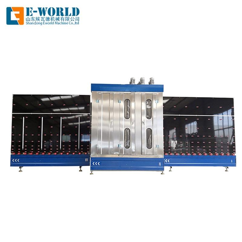 Vertical glass washing drying machine