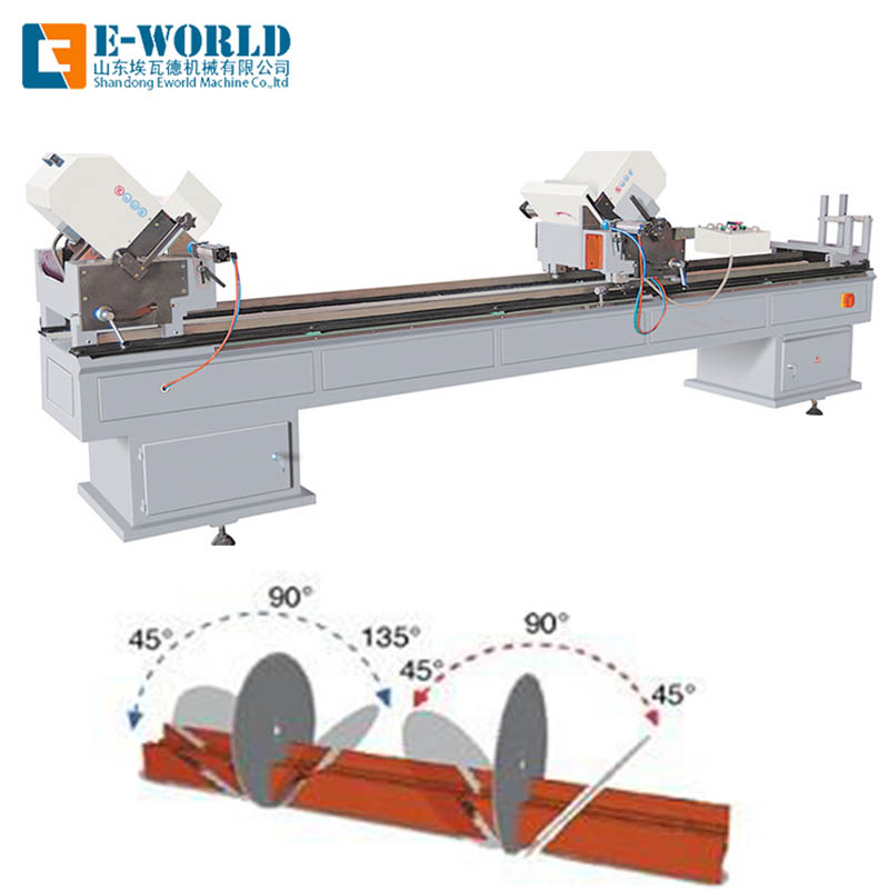 Eworld Machine double upvc machine order now for industrial production-1
