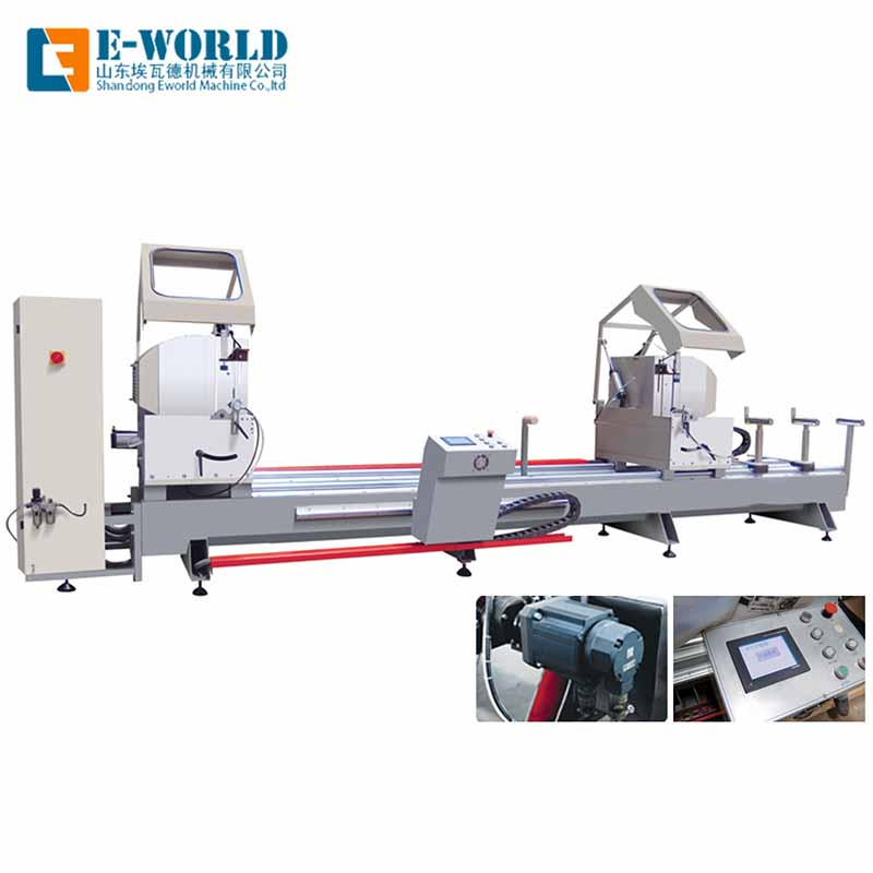 Eworld Machine end aluminum windows corner combining machine supply for industrial production-1
