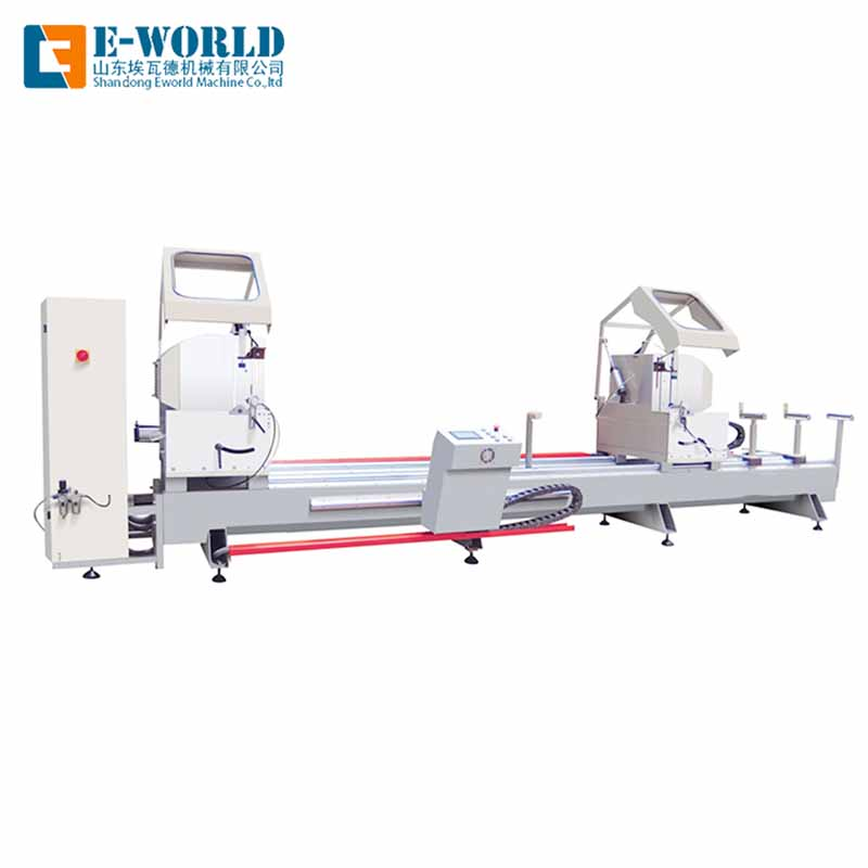 Eworld Machine end aluminum windows corner combining machine supply for industrial production-2