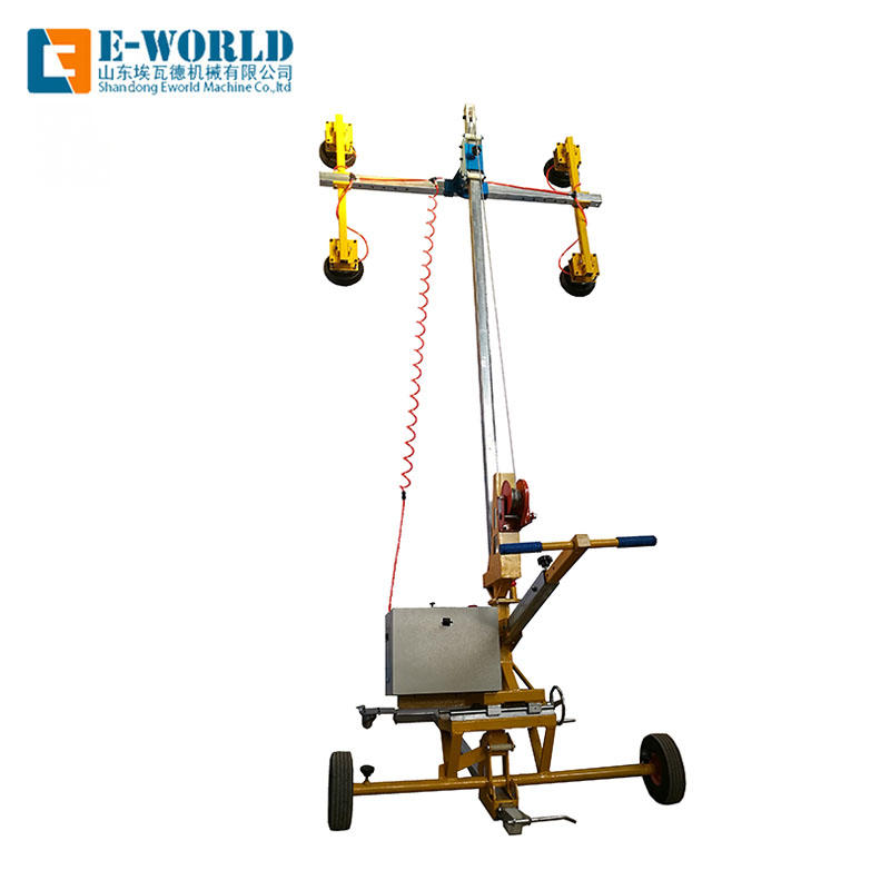Outdoor electric power glass installation lifter