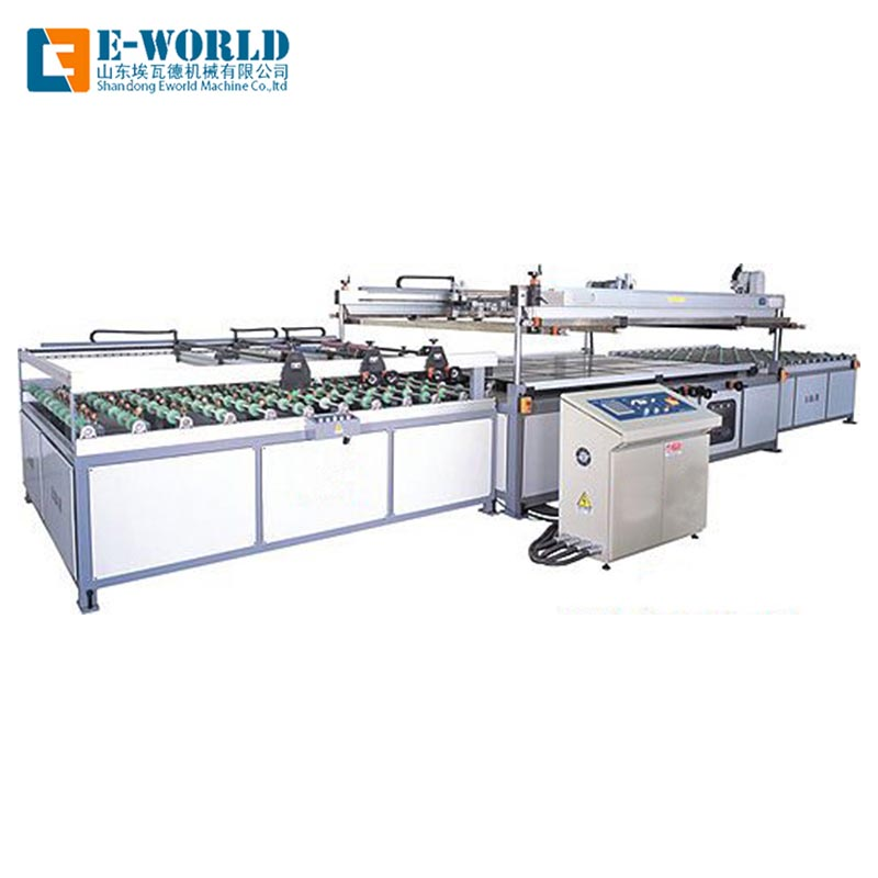 Eworld Machine original automatic glass screen printing machine manufacturer for industry-2