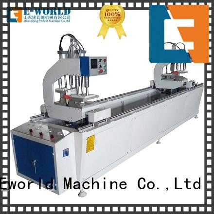 Eworld Machine simple upvc door window making machine factory for importer