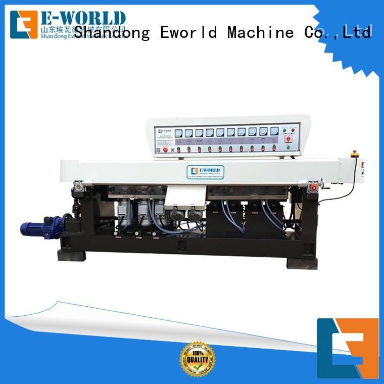 Eworld Machine edging small glass beveling machine manufacturer for global market