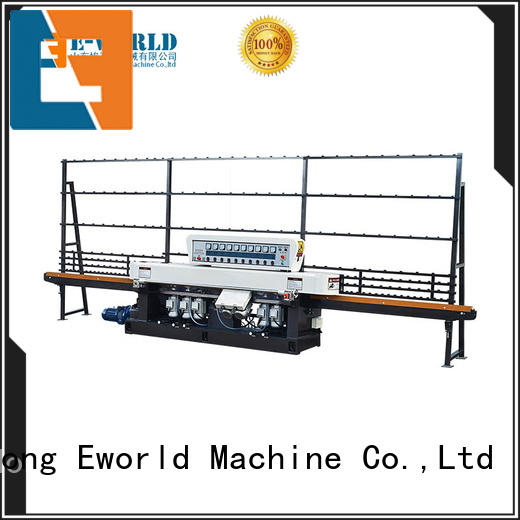 Eworld Machine horizontal flat glass edging polishing machine supplier for manufacturing