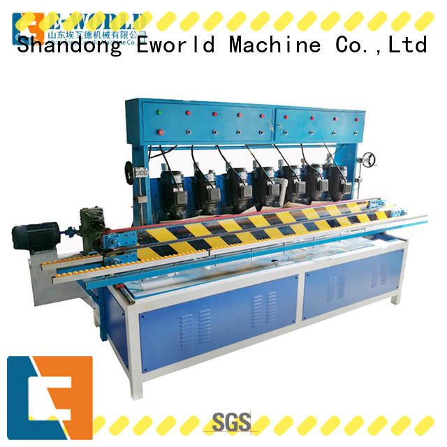 Eworld Machine multi glass straight line edging machine OEM/ODM services for industrial production