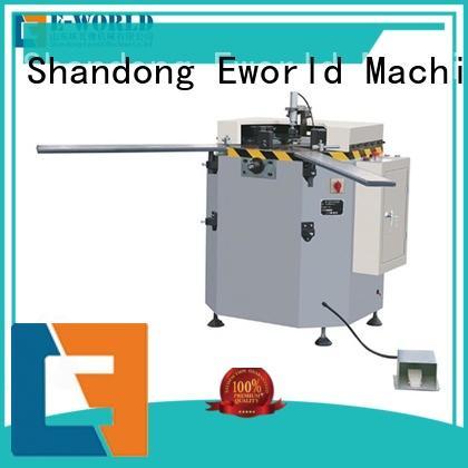 Eworld Machine head aluminium corner crimping machine supplier for industrial production