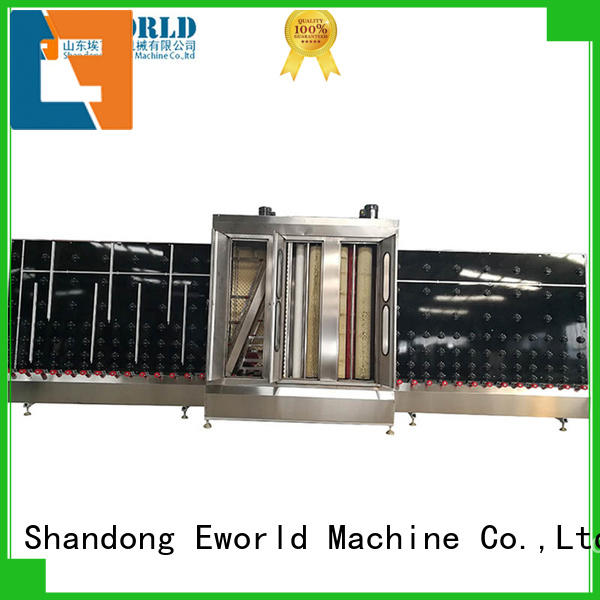 Eworld Machine open horizontal glass washing machine international trader for industry