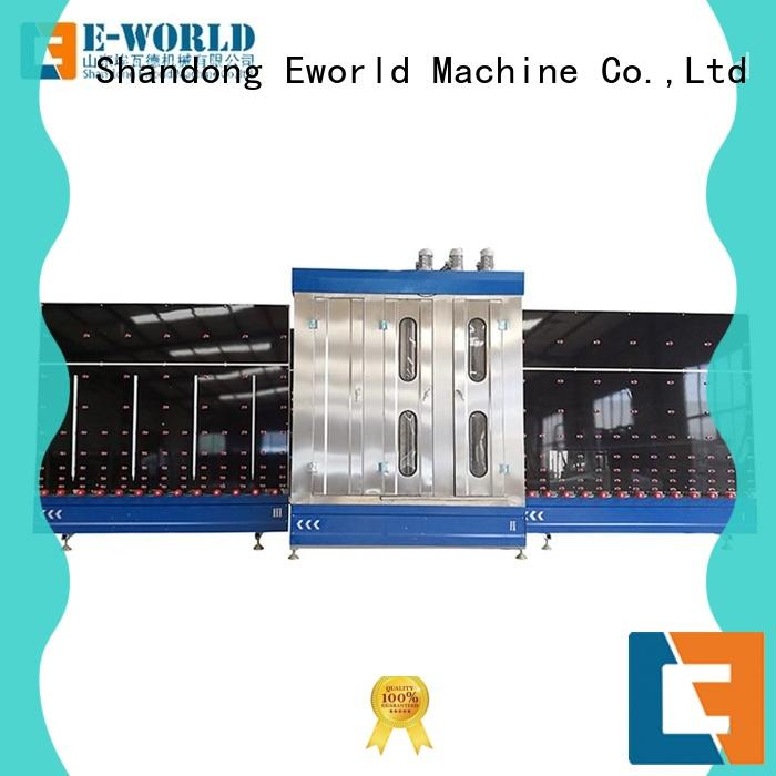 Eworld Machine trade assurance glass washer and dryer horizontal for manufacturing
