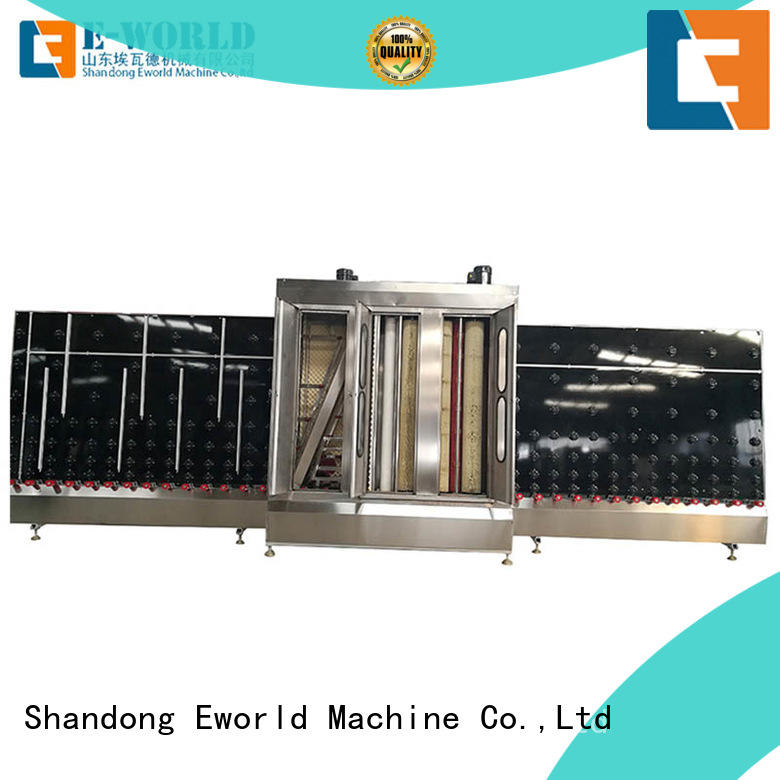 washing laminated glass washing machinery drying for distributor Eworld Machine