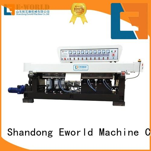 technological glass double edger machine supplier for manufacturing Eworld Machine