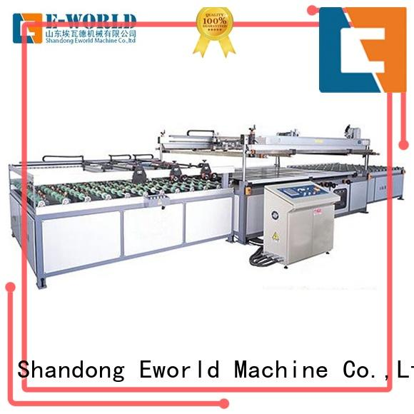 Eworld Machine trade assurance pet film screen printing machine automatic for manufacturing
