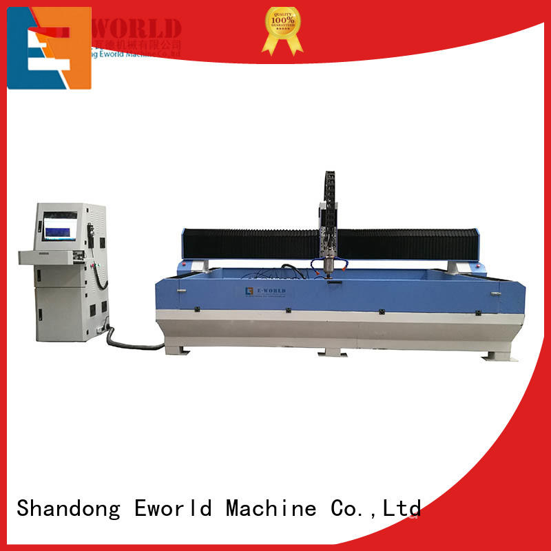 Eworld Machine reasonable structure cnc glass engraving machine dedicated service for industry