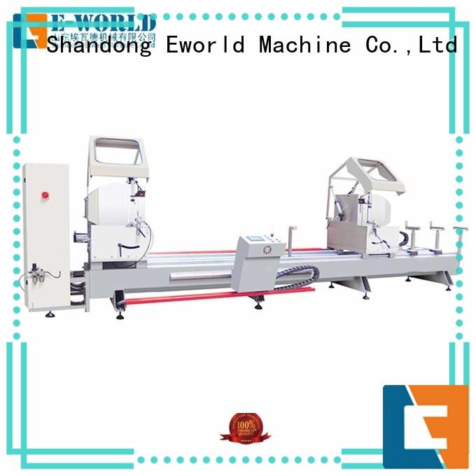 Eworld Machine crimping aluminum windows double head miter saw supplier for industrial production