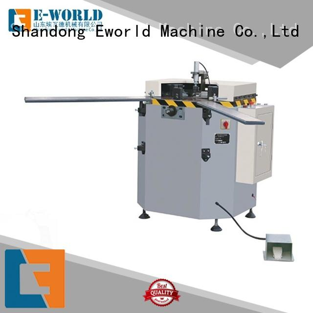Eworld Machine technological aluminum double head cutting window machine supplier for industrial production