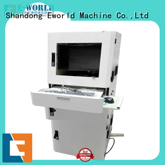 Eworld Machine shaped glass cutting table for sale dedicated service for machine