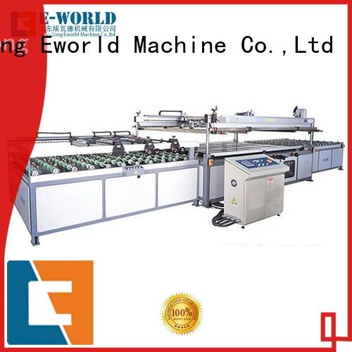 Eworld Machine original automatic screen printing machine trader for industrial production
