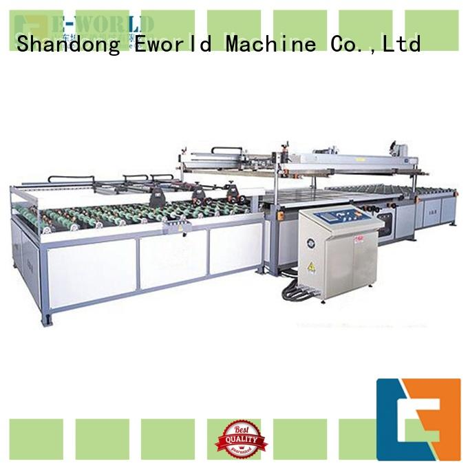 Eworld Machine technological fully automatic screen printing machine manufacturer for manufacturing