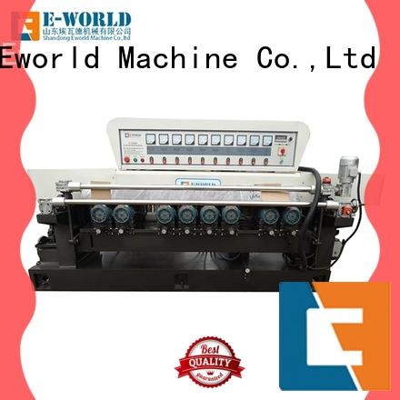 Eworld Machine trade assurance glass straight line edging machine OEM/ODM services for manufacturing