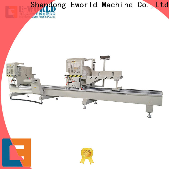 Eworld Machine automatic aluminum profile cutting machine manufacturer for global market