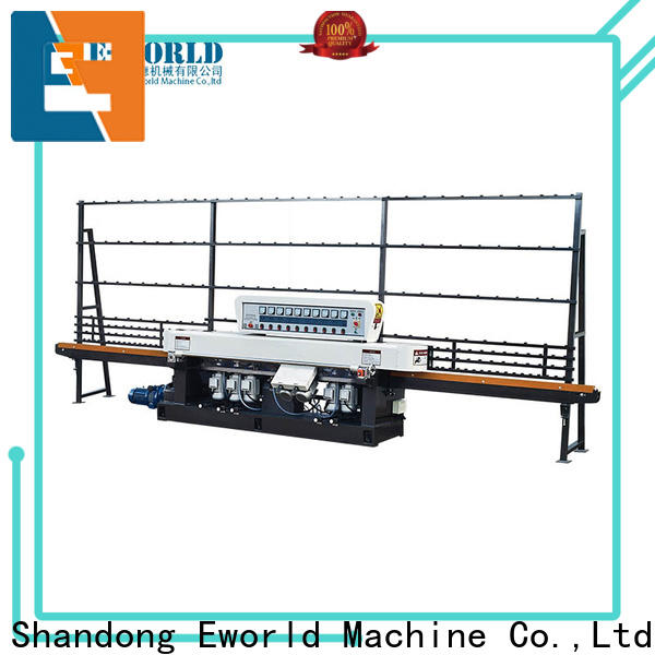 Eworld Machine automatic glass beveling polishing machine manufacturer for manufacturing