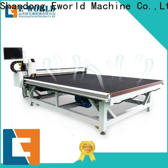 Eworld Machine good safety glass loading cutting table dedicated service for sale
