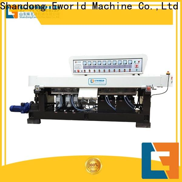 Eworld Machine automatic glass edge chamfer machine manufacturer for industrial production