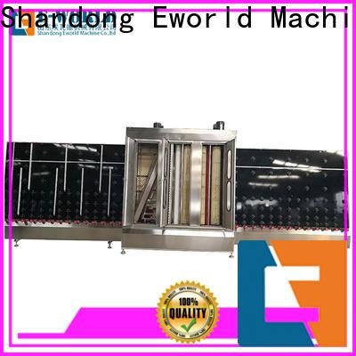 Eworld Machine horizontal glass cleaning machine factory for industry