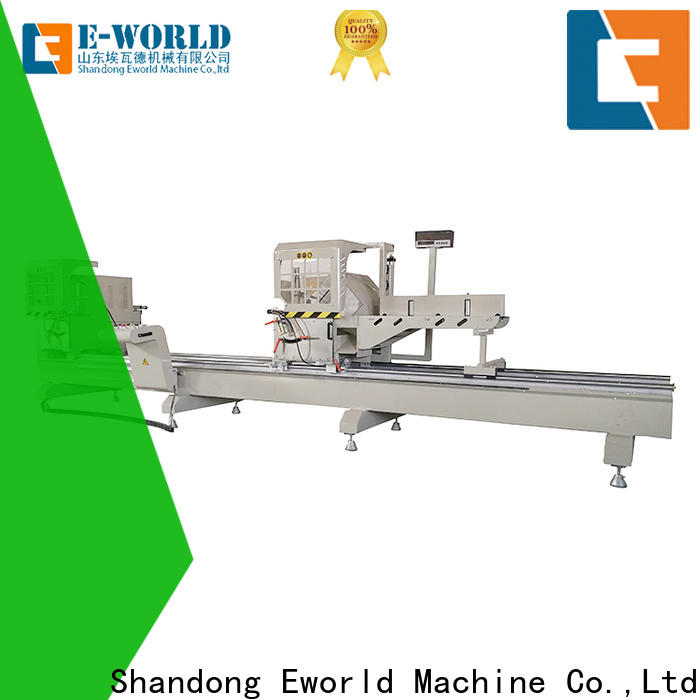 Eworld Machine cutting upvc and aluminum window machine OEM/ODM services for industrial production