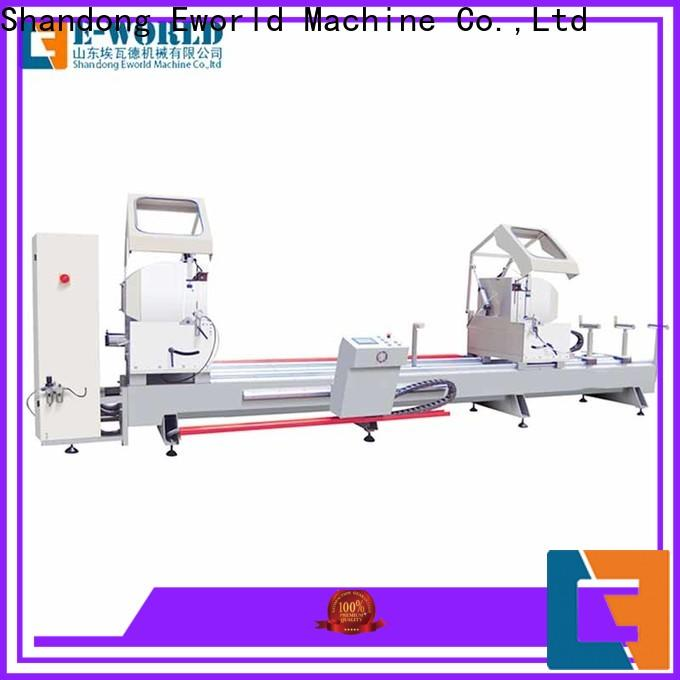 Eworld Machine trade assurance aluminum windows double head miter saw OEM/ODM services for manufacturing