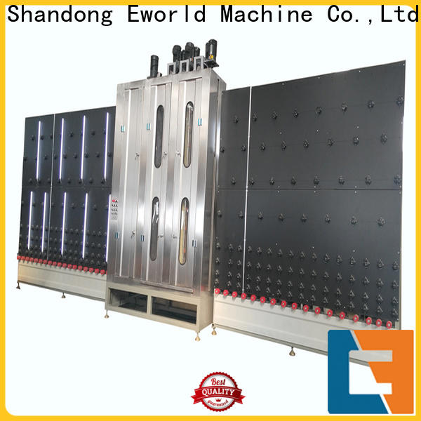 Eworld Machine drying tempered glass washing machine supplier for manufacturing