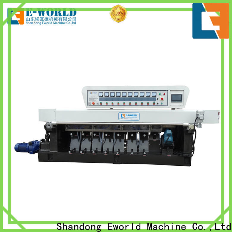 Eworld Machine horizontal glass edge processing machine manufacturer for industrial production