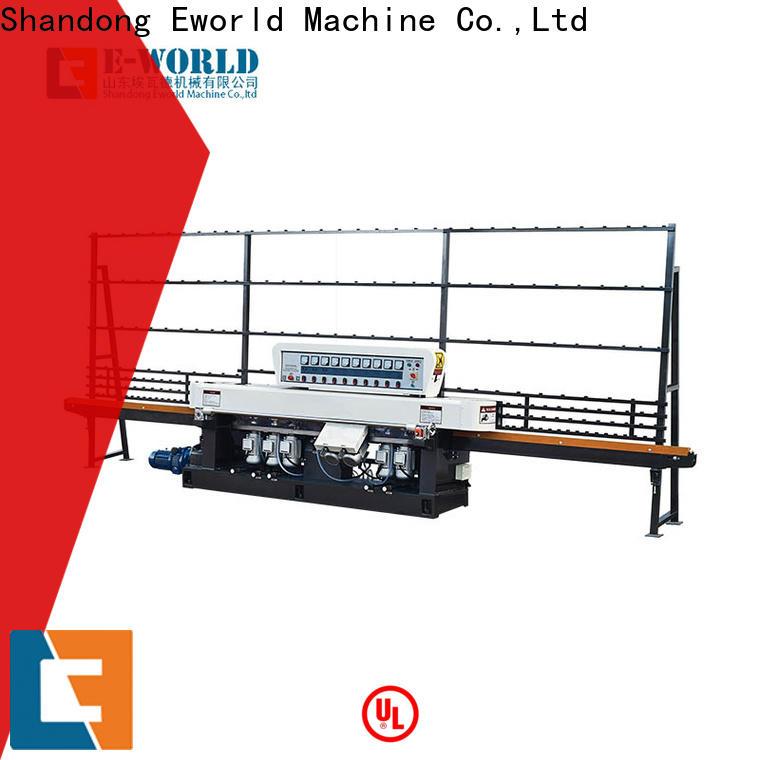 Eworld Machine double glass straight line edging machine supplier for manufacturing