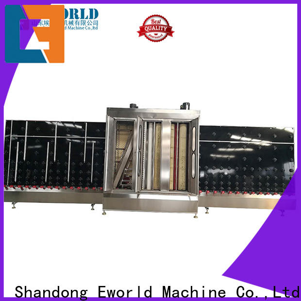 Eworld Machine horizontal industrial glass washing machine supplier for industry