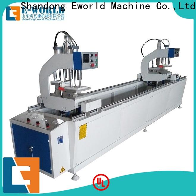 Eworld Machine simple upvc window machine price factory for manufacturing
