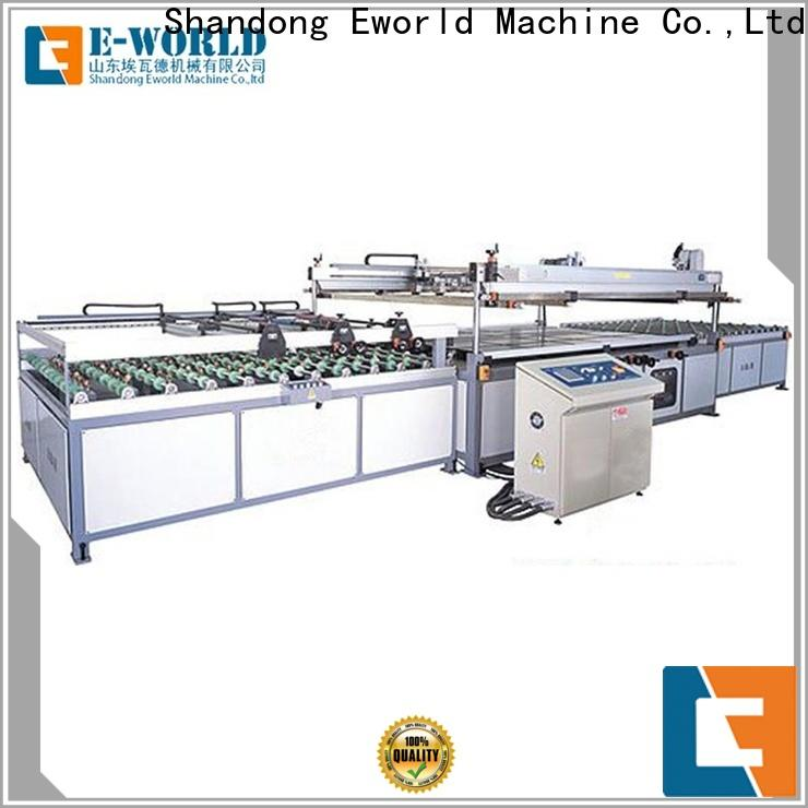 Eworld Machine original automatic glass screen printing machine manufacturer for industry
