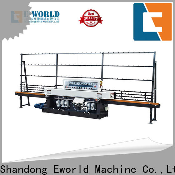Eworld Machine technological small glass edging machine supplier for industrial production