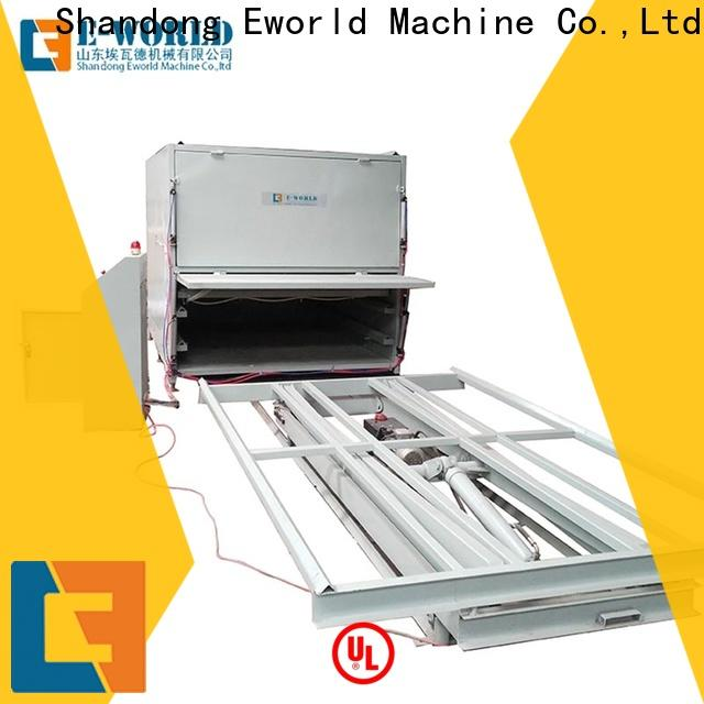 Eworld Machine film arris glass laminating machine supplier for manufacturing