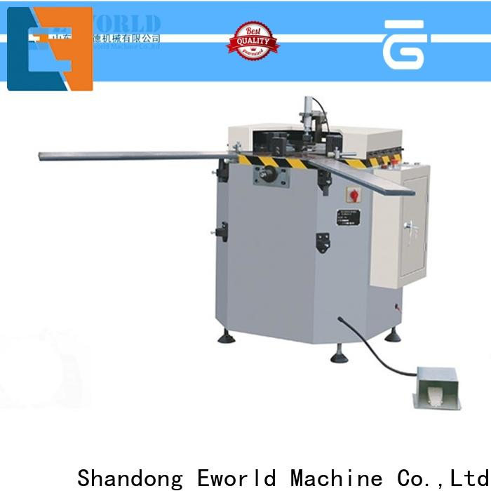 Eworld Machine cutting aluminum window punching machine supplier for industrial production