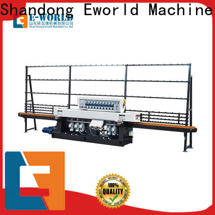 Eworld Machine double glass edging machine price manufacturer for industrial production
