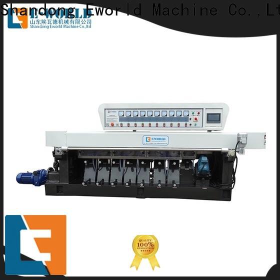 Eworld Machine technological glass belt edge polishing machine manufacturer for manufacturing