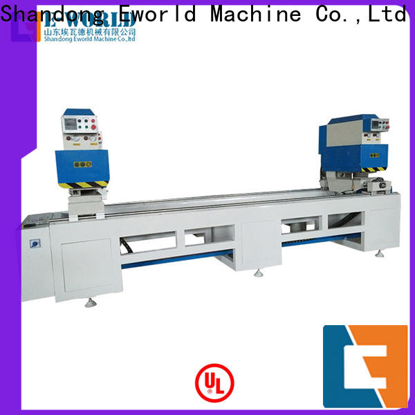 Eworld Machine new pvc window v notch cutting machine factory for industrial production