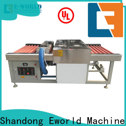 Eworld Machine glass glass washing and drying machine factory for industry