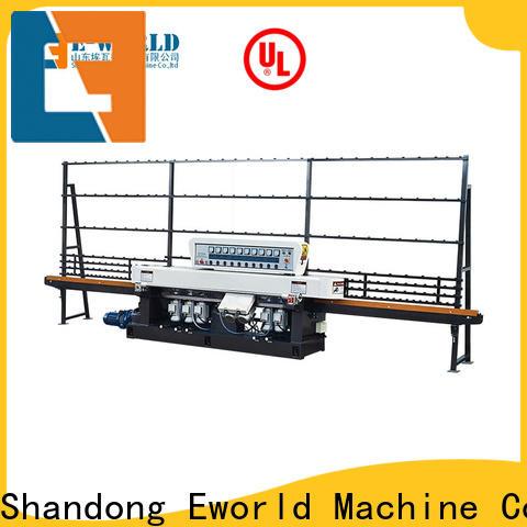 Eworld Machine glass belt edge glass edging machine supplier for industrial production