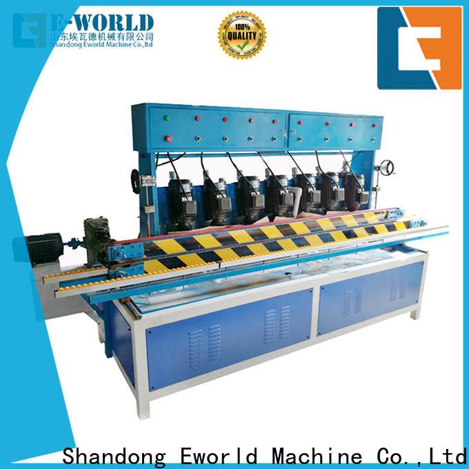 Eworld Machine trade assurance glass corner polishing machine supplier for global market