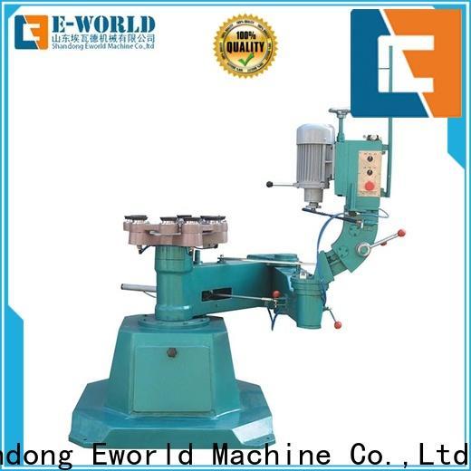 Eworld Machine edge belt edge glass edging machine supplier for industrial production