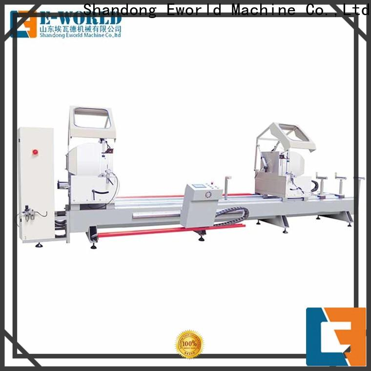 Eworld Machine technological automatic upvc and aluminum window machine manufacturer for industrial production